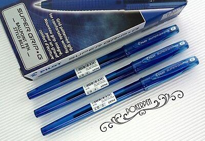 Free Ship 12 Pcs Pilot Super Grip G Ballpoint Pen Bps-gg-f Blue Ink
