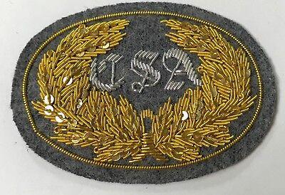 CIVIL WAR CONFEDERATE OFFICER C.S.A IN WREATH HAT CAP KEPI INSIGNIA-LARGE Civil War Officer Hat