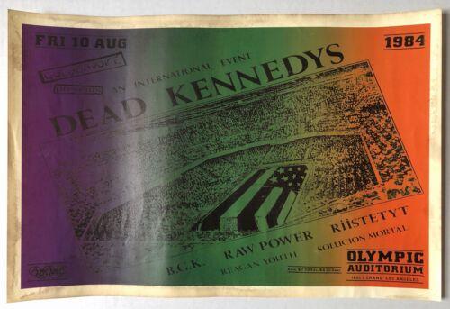 DEAD KENNEDYS Olympic Auditorium 1984 COLOR Concert POSTER Punk GOLDENVOICE VG+