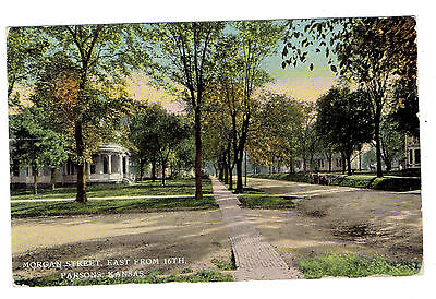 Parsons Kansas Morgan Street East from 16th posted 1912