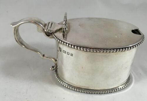 Antique Silver Mustard Pot Vander London 1926 93g DZX
