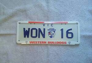 Western Bulldogs Custom AFL Number Plates 2016 Premiers 'WON 16' Craigieburn Hume Area Preview