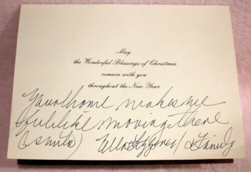 Ella Fitzgerald  Signed Christmas Card 1970