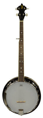 Bryce 5 String Banjo - Mahogany resonator Remo head High Gloss finish