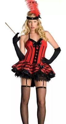 BURLESQUE FLAPPER L Sexy Women's Deluxe Cabaret Halloween Dancer Movie Prop