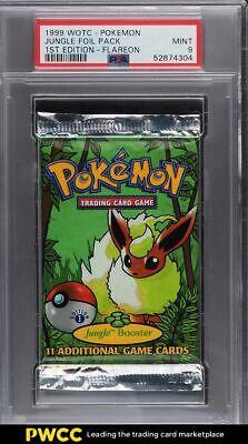 1999 Pokemon Jungle 1st Edition Booster Pack Flareon Art PSA 9 MINT