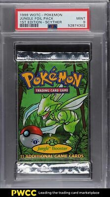 1999 Pokemon Jungle 1st Edition Booster Pack Scyther Art PSA 9 MINT