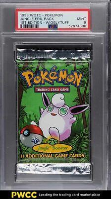 1999 Pokemon Jungle 1st Edition Booster Pack Wigglytuff Art PSA 9 MINT