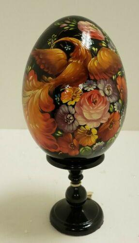 G. DeBrekht Russian Egg on Pedestal – Floral and Bird