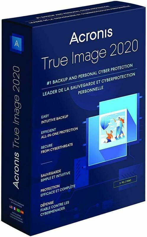 Acronis True Image 2020 - Latest Version - Bootable ISO Image - Multilingual ISO