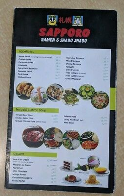 SAPPORO Restaurant Menu, RAMEN & SHABU SHABU