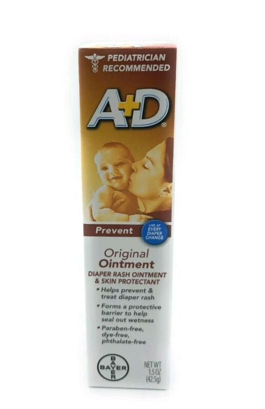 A+D Original Diaper Rash Ointment, Baby Skin Protectant With Lanolin and Petr...