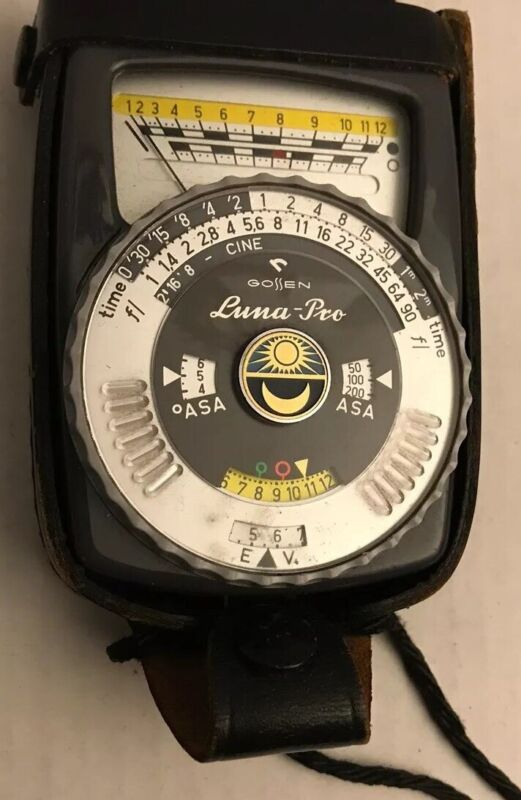 Vintage Gossen Luna Pro Light Meter Made Germany with Leather Case