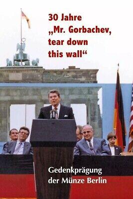 Medaille * Ronald Reagan - Open this Gate * Münze - versilbert * NEU *