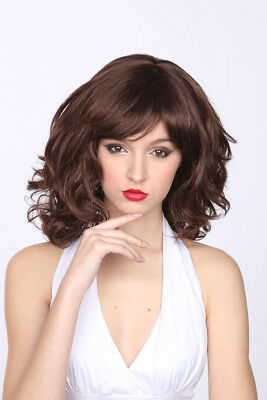 Halloween Costumes With Short Hair (Wig Classic Foxy Short Brown Layered Cut Synthetic Hair Costume Wig With)