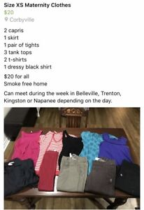 Lots of Maternity Clothes - size S and XS