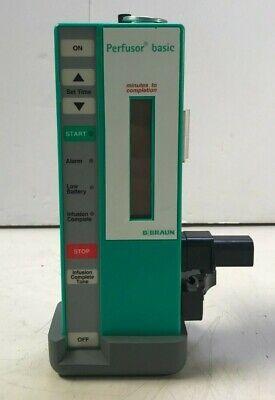 B. Braun Perfusor Basic Infusion Syringe Pump W Pole Clamp 22545 C23