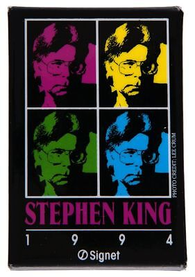 """STEPHEN KING 1994/SIGNET"" BOOK PROMOTION BUTTON."