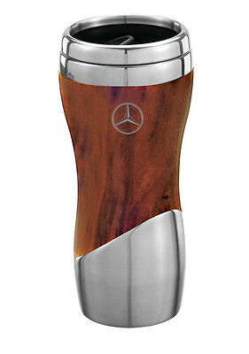 Mercedes Benz 16 oz. Double Wall Stainless Steel & Wood Grain Tumbler New