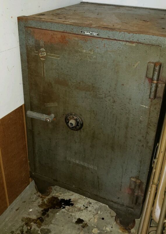 Antique Herring, Hall, Marvin Safe Co. Floor Safe from Circa 1920 in NE Indiana