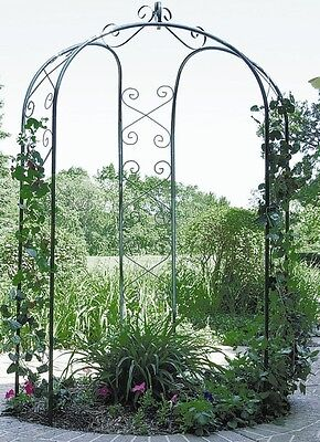 NEW Metal 3 Sided Garden Patio Yard Arbor Gazebo Arch Trellis Hunter Green 5DShp