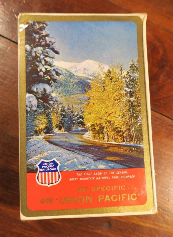 Union Pacific Railroad Unused  Deck Playing Cards First Snow Domeliners #1