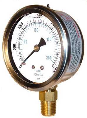 Gauge Pressure Pic Gauges 201l-402p Hydraulic Pressure Liquid 4 3000 Psi New