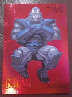 2015 Marvel Fleer Retro - RED GEM METAL BLASTER - Apocalypse # 79/100