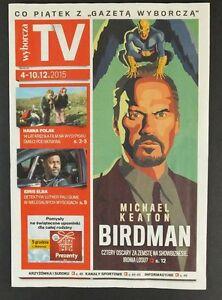 MICHAEL KEATON Birdman mag.FRONT cover Poland Cillian Murphy,Idris Elba - europe, Polska - Zwroty są przyjmowane - europe, Polska