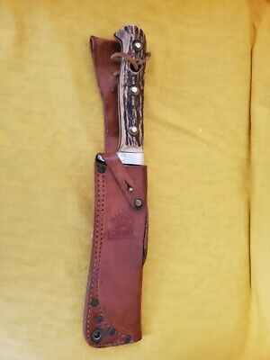 PUMA WHITE HUNTER KNIFE WITH SHEATH EXCELLENT CONDITION RARELY USED, ORIG. OWNER