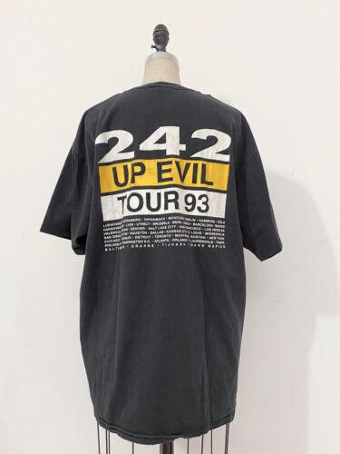 ⭕ 90s Vintage Front 242 Tour T-shirt : industrial goth nitzer ebb supreme KMFDM