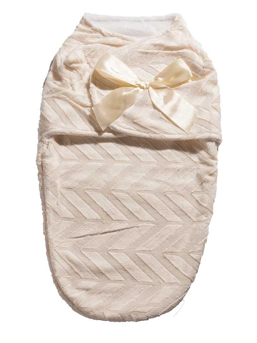 SWUDDLE Baby Soft Swaddle Blanket, Adjustable Velcro Ivory