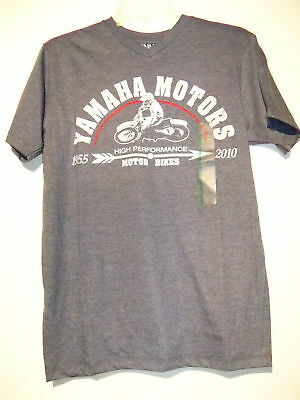 Yamaha Motors Motorcycle Adult Short Sleeve T Shirt Gray Small New NWT