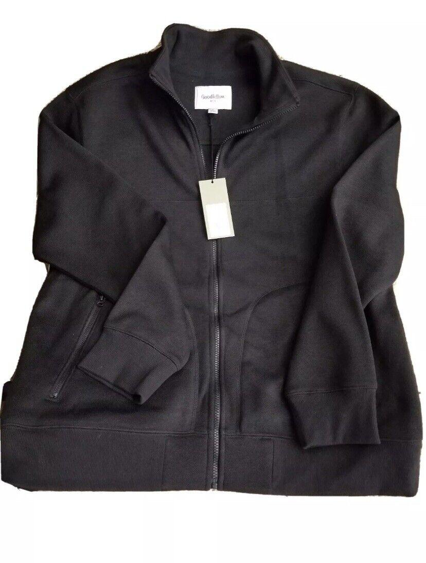 GOODFELLOW & Co Men's standard Fit, Full Zip Sweater Fleece Jacket sz M BLACK