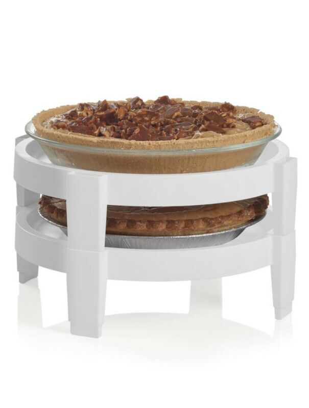 TUPPERWARE DIVIDE A RACK DUO HOLDS TWO PIES STACKED NEW