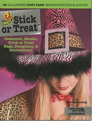 Stick or Treat Halloween Duct Tape Duck Projects Masks Costumes Treat Bags  (Duct Tape Halloween Costumes)