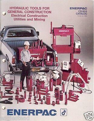 Equipment Catalog - Enerpac - Hydraulic Tool Construction Mining - 1980 E1988