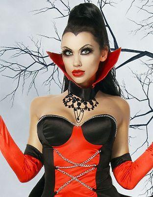 Neu+Kostüm+Damen+Fledermaus+Gothic+Fasching+Halloween+Karnevall+Vampir+Gräfin+ ()