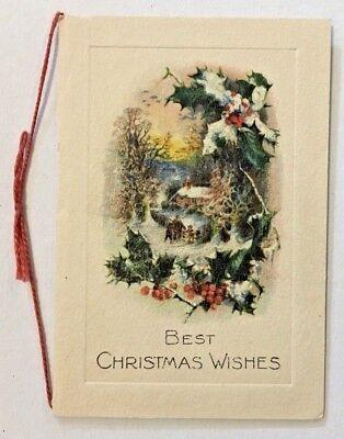 "Vintage Christmas Card ""Best Christmas"