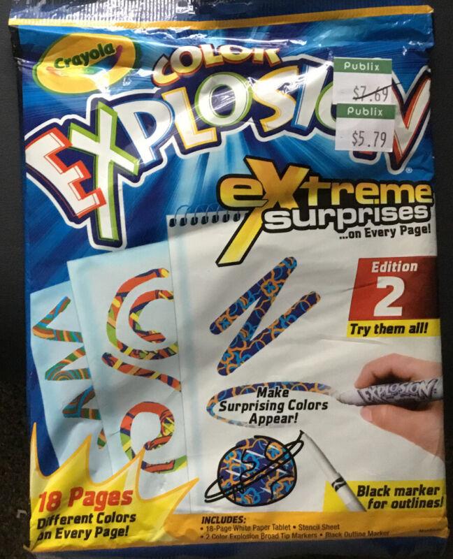 Crayola Extreme Designer Creative Color Explosion Book, Edition 2 Magic Designs