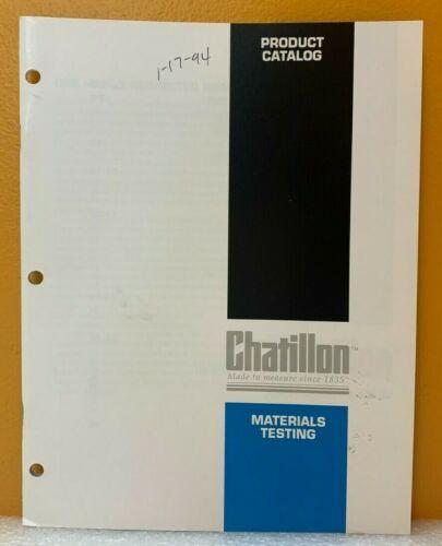 Chatillon Materials Testing Product Catalog.