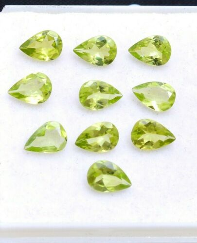 Natural Peridot Calibrated 5.55 Cts Pear Shape Faceted 7x5x2.5 mm Loose Gemstone