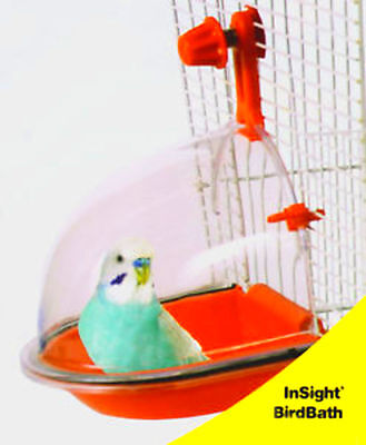 BIRD BATH DELUXE PARAKEET LOVEBIRD FINCH Birds Enrichment Fun Random Color Clear