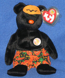 TY-SCARES-the-BEAR-BEANIE-BABY-RETIRED-BBOM-MINT-with-MINT-TAGS