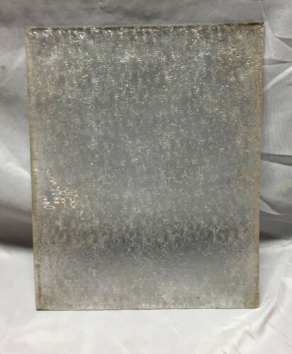 Antique Florentine Privacy Window Glass 13X10 Old Flower Replacement 585-18C