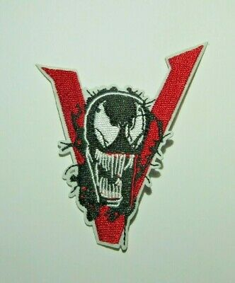 Amazing Spider Man Appliques - The Amazing Spider-Man Venom Face & V Embroidered 3.75