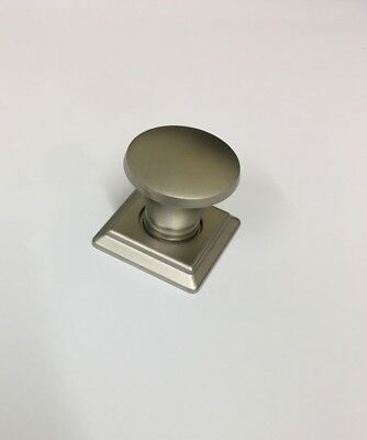 Satin Nickel Backplate (30mm Knob With Back Plate Satin Nickel)