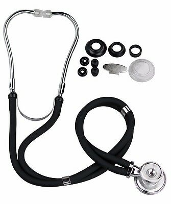 Primacare High Quality Sprague Rappaport Dual Stethescope-black