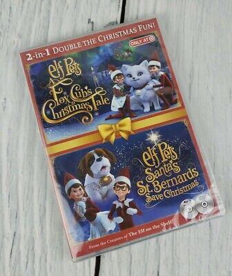 Elf on the Shelf Pets Fox Cub's Tale & Santa's St. Bernard's Save Christmas DVD