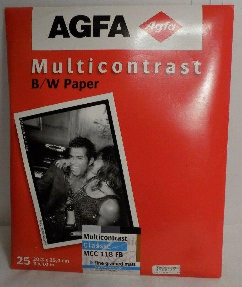 AGFA Multicontrast Classic B&W Paper 8x10 MCC 118 FB Fine Grain Matt 25 Sheets